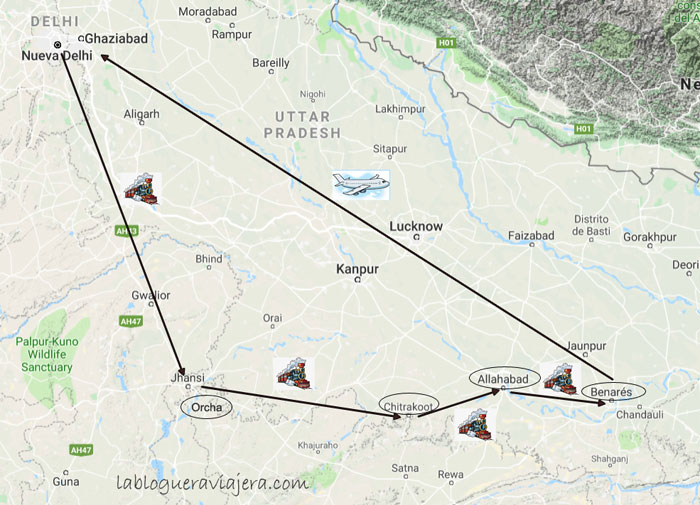 Ruta-norte-india-benares-orchha-allahabad-chitrakoot