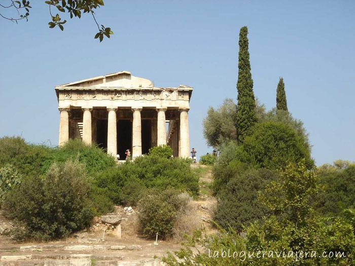 El Ágora de Atenas hoyPórtico Real Pórtico de Zeus, o de los Doce Dioses Pórtico Pécilo o de las Pinturas. Templo de He...