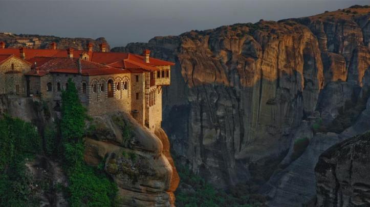 Vista del Monasterio de Roussanou, en Meteora